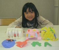 Ashley With Paper Sculpture